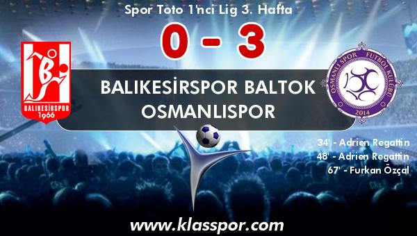 Balıkesirspor Baltok 0 - Osmanlıspor 3