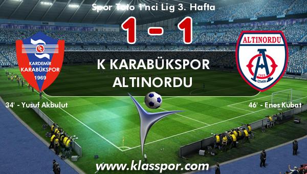K Karabükspor 1 - Altınordu 1
