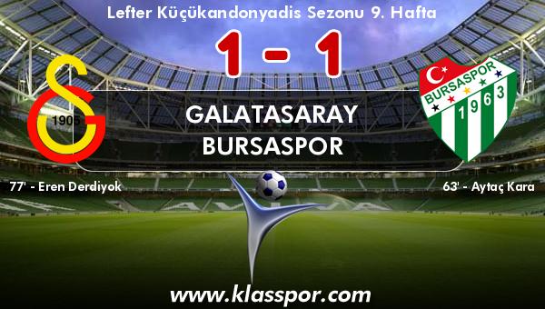 Galatasaray 1 - Bursaspor 1