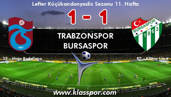 Trabzonspor 1 - Bursaspor 1