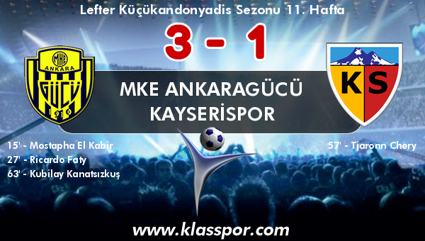 MKE Ankaragücü 3 - Kayserispor 1