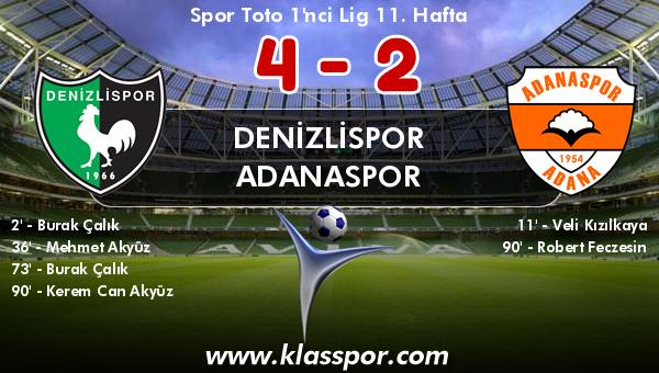 Denizlispor 4 - Adanaspor 2