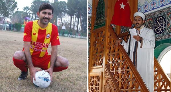 Hem imam, hem lisanslı futbolcu