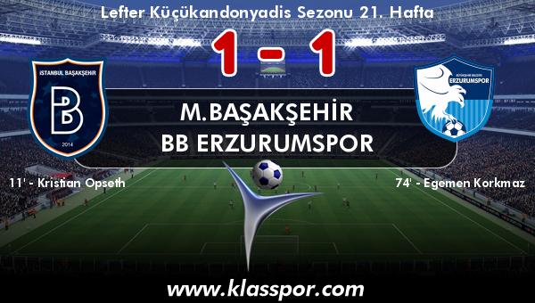 M.Başakşehir 1 - BB Erzurumspor 1