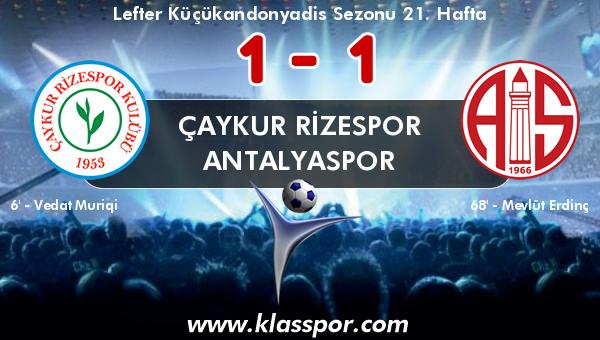 Çaykur Rizespor 1 - Antalyaspor 1