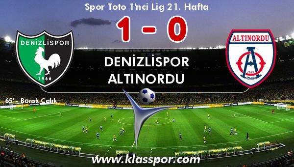 Denizlispor 1 - Altınordu 0