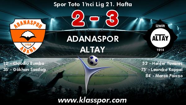 Adanaspor 2 - Altay 3