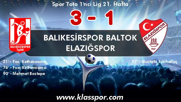 Balıkesirspor Baltok 3 - Elazığspor 1