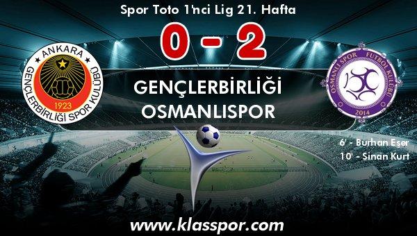 Gençlerbirliği yine kaybetti, Osmanlıspor çok şey kazandı!