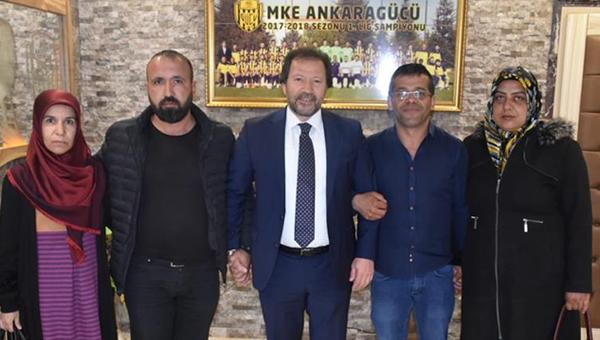 Ankaragücü, Açıkgöz ve Çakır ailesine desteği sağladı