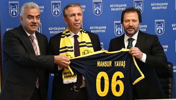 Ankaragücü'nden Mansur Yavaş'a ziyaret