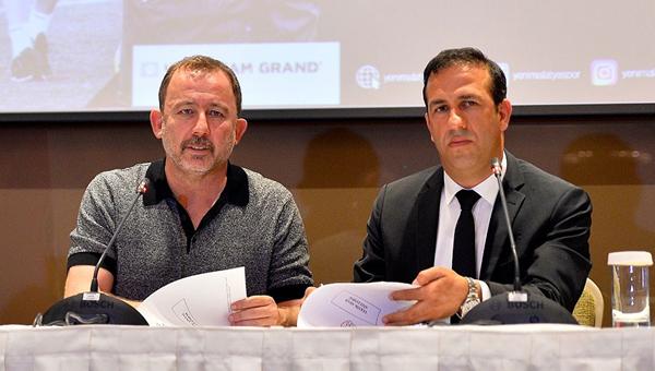 Evkur Yeni Malatyaspor, Sergen Yalçın'ı basına tanıttı