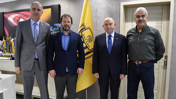 Nihat Özdemir'den Ankaragücü'ne ziyaret