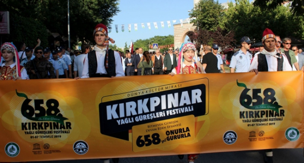 Edirne'de Kırkpınar coşkusu başladı