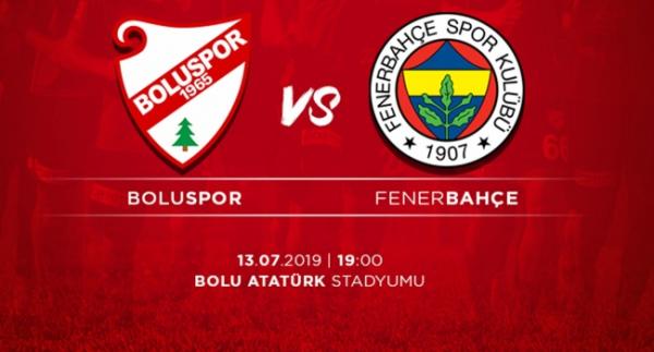 Fenerbahçe Boluspor'la hazırlık maçı yapacak