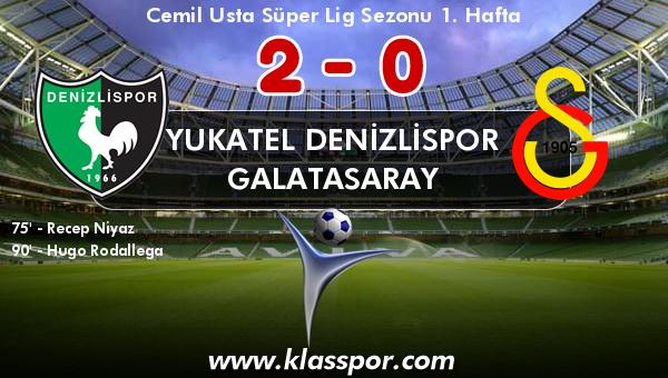 Yukatel Denizlispor 2 - Galatasaray 0