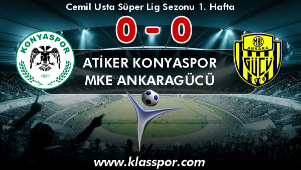 Atiker Konyaspor 0 - MKE Ankaragücü 0