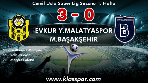 Evkur Y.Malatyaspor 3 - M.Başakşehir 0