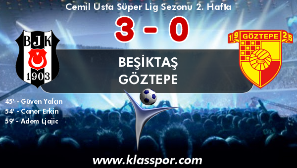 Beşiktaş 3 - Göztepe 0