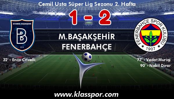 M.Başakşehir 1 - Fenerbahçe 2
