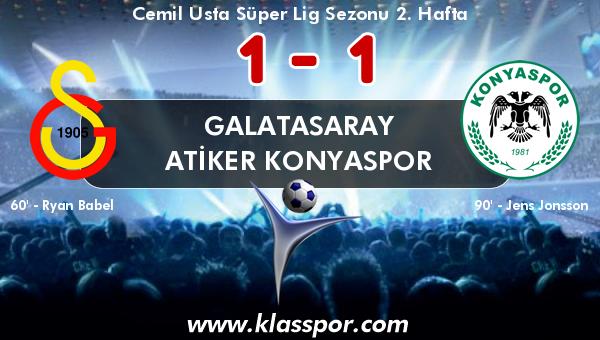 Galatasaray 1 - Atiker Konyaspor 1