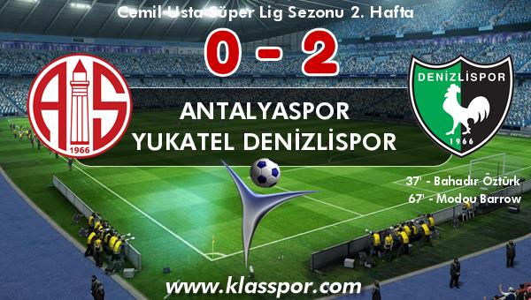 Antalyaspor 0 - Yukatel Denizlispor 2