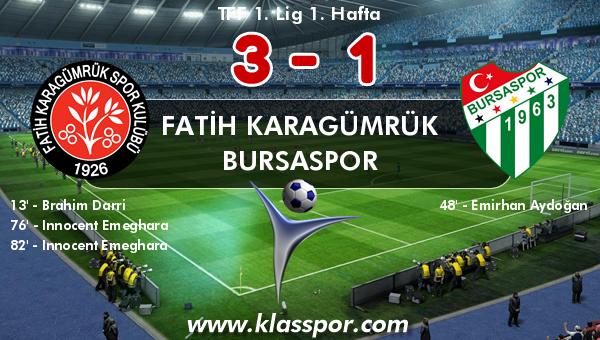 Fatih Karagümrük 3 - Bursaspor 1