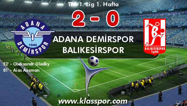 Adana Demirspor 2 - Balıkesirspor 0