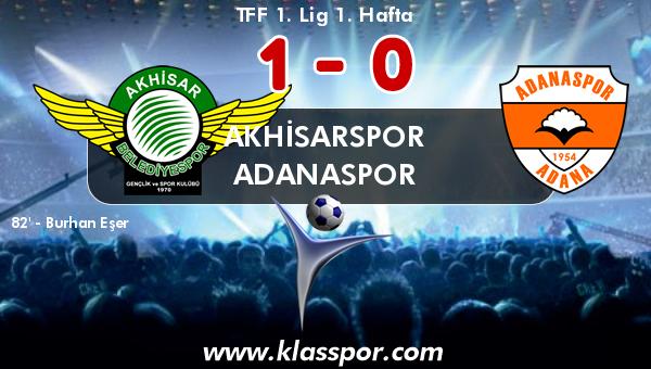 Akhisarspor 1 - Adanaspor 0