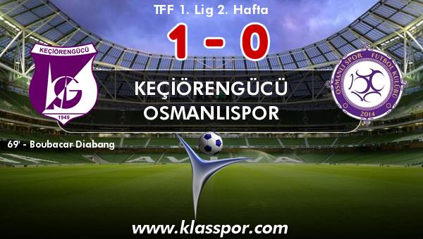 Keçiörengücü 1 - Osmanlıspor 0