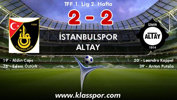 İstanbulspor 2 - Altay 2