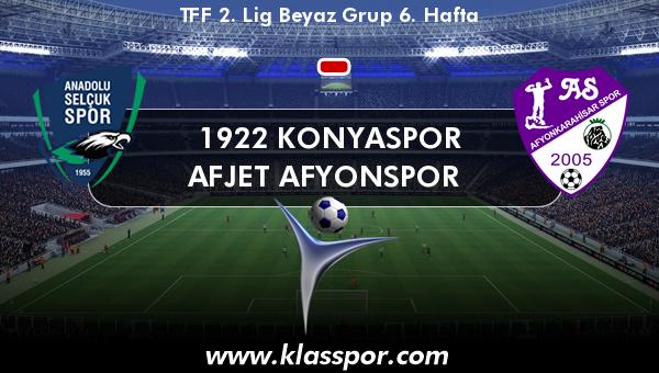 1922 Konyaspor  - Afjet Afyonspor