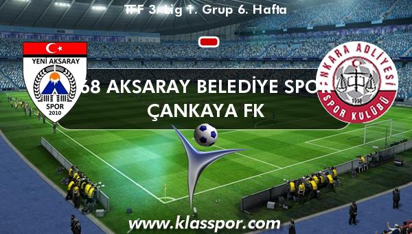 68 Aksaray Belediye Spor  - Çankaya FK