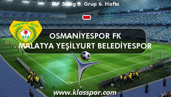 Osmaniyespor FK  - Malatya Yeşilyurt Belediyespor
