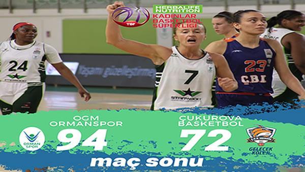OGM Ormanspor 94 - 72 Çukurova Basketbol
