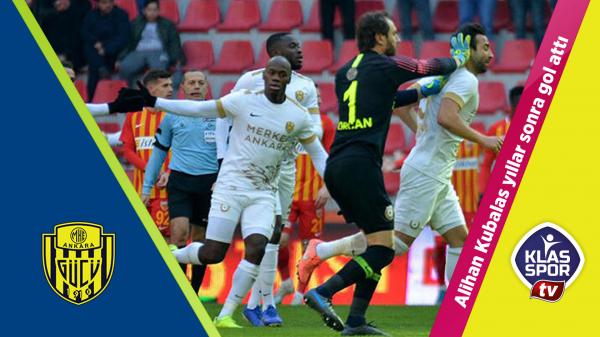 Alihan Kubalas 2 yıl sonra golünü attı