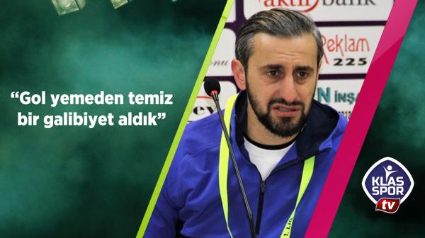 Serkan Özbalta: Gol yemeden temiz bir galibiyet aldık