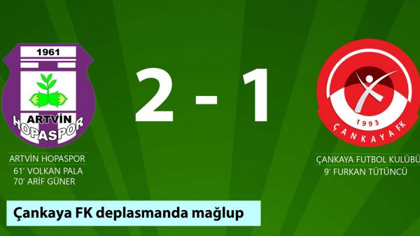 Çankaya FK, deplasmanda mağlup