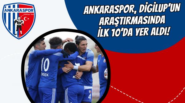 Ankaraspor, DigiLup'un araştırmasında ilk 10'da yer aldı!