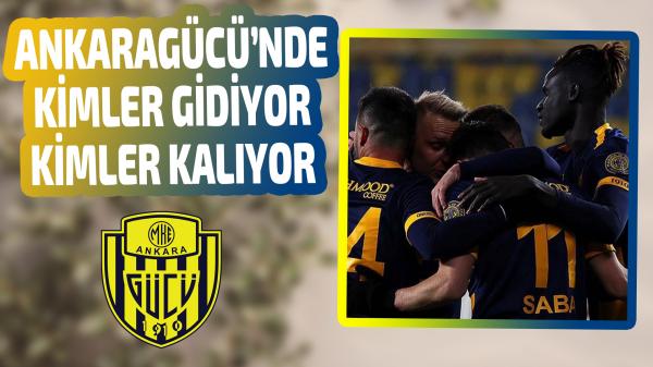 Ankaragücü'nde sözleşmesi biten futbolcular