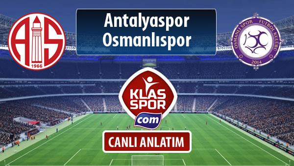 Antalyaspor - Osmanlıspor maç kadroları belli oldu...