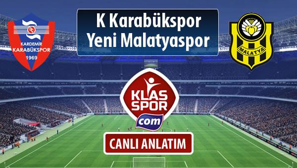 K Karabükspor - Evkur Y.Malatyaspor maç kadroları belli oldu...
