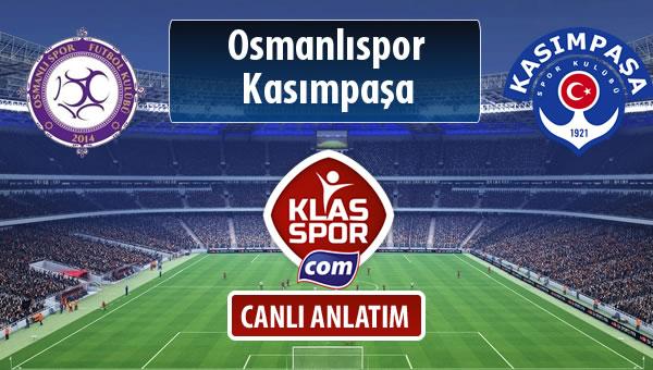 Osmanlıspor - Kasımpaşa sahaya hangi kadro ile çıkıyor?
