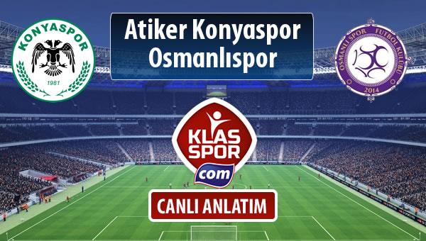 Atiker Konyaspor - Osmanlıspor maç kadroları belli oldu...