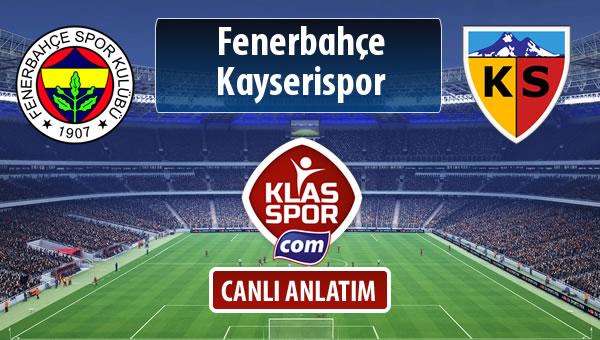 Fenerbahçe - Kayserispor maç kadroları belli oldu...