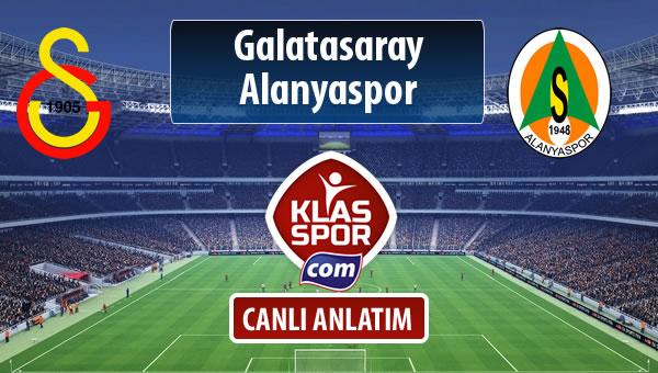 Galatasaray - Alanyaspor maç kadroları belli oldu...