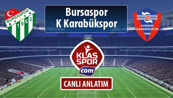 Bursaspor - K Karabükspor maç kadroları belli oldu...