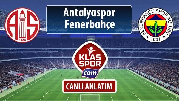 Antalyaspor - Fenerbahçe maç kadroları belli oldu...
