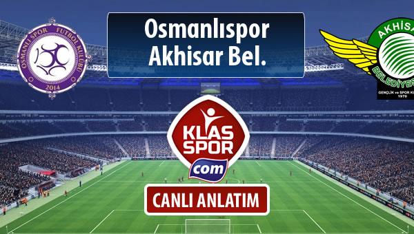 İşte Osmanlıspor - Akhisar Bel. maçında ilk 11'ler