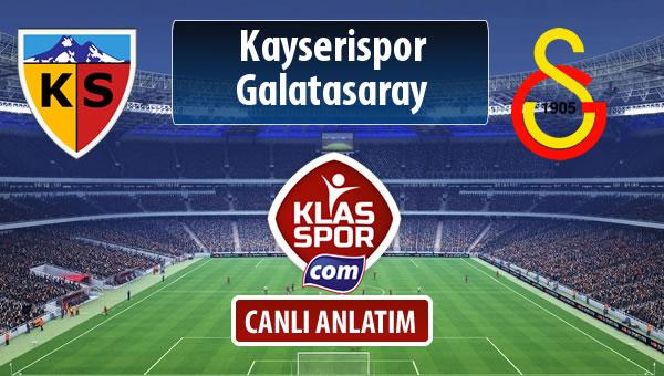 İşte Kayserispor - Galatasaray maçında ilk 11'ler
